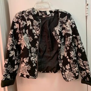H&M Black Floral Jacket